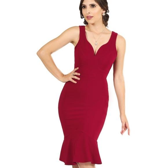 Vestidos Cortos Coqueta 2058 Wine Nwt